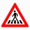 Verkehrszeichen 101-11 Fußgängerüberweg, Aufstellung rechts