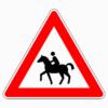 Verkehrszeichen 101-13 Reiter