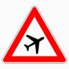 Verkehrszeichen 101-20 Flugbetrieb, Aufstellung links