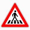 Verkehrszeichen 101-21 Fußgängerüberweg, Aufstellung links