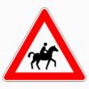 Verkehrszeichen 101-23 Reiter, Aufstellung links