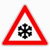 Verkehrszeichen 101-51 Schnee- oder Eisglätte