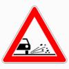 Verkehrszeichen 101-52 Splitt, Schotter