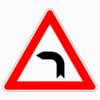 Verkehrszeichen 103-10 Kurve links