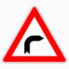 Verkehrszeichen 103-20 Kurve rechts