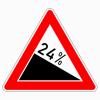 Verkehrszeichen 108.24 Gefälle 24 %