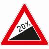 Verkehrszeichen 110.20 Steigung 20%