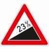 Verkehrszeichen 110.23 Steigung 23%
