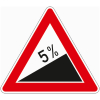 Verkehrszeichen 110.5 Steigung 5%