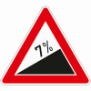 Verkehrszeichen 110.7 Steigung 7%