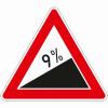 Verkehrszeichen 110.9 Steigung 9%