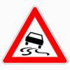 Verkehrszeichen 114 Schleuder- oder Rutschgefahr