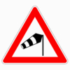 Verkehrszeichen 117-10 Seitenwind von rechts