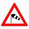 Verkehrszeichen 117-20 Seitenwind von links