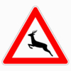 Verkehrszeichen 142-10 Wildwechsel, Aufstellung rechts