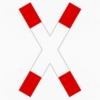 Vorschriftzeichen 201-50 Andreaskreuz stehend
