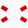 Vorschriftzeichen 201-52 Andreaskreuz liegend