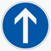 Vorschriftzeichen 209-30 Vorgeschriebene Fahrtrichtung geradeaus