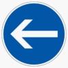 Vorschriftzeichen 211-10 Vorgeschriebene Fahrtrichtung hier links