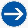 Vorschriftzeichen 211 Vorgeschriebene Fahrtrichtung hier rechts
