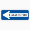 Vorschriftzeichen 220-10 Einbahnstraße linksweisend