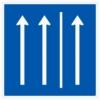 Vorschriftzeichen 223.1-50 Seitenstreifen befahren, 2 Fahrstreifen + Seitenstreifen