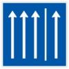Vorschriftzeichen 223.1-51 Seitenstreifen befahren, 3 Fahrstreifen + Seitenstreifen