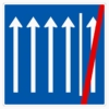 Vorschriftzeichen 223.2-52 Seitenstreifen nicht mehr befahren, 4 Fahrstreifen + Seitenstreifen