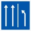 Vorschriftzeichen 223.3-50 Seitenstreifen räumen, 2 Fahrstreifen + Seitenstreifen