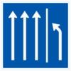 Vorschriftzeichen 223.3-51 Seitenstreifen räumen, 3 Fahrstreifen + Seitenstreifen