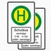 Vorschriftzeichen 224-41 Schulbushaltestelle doppelseitig (mit Zz 1042-36)