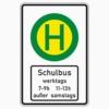 Vorschriftzeichen 224-51 Schulbushaltestelle (mit Zz 1042-36)