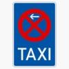 Vorschriftzeichen 229-10 Taxenstand Anfang,  Aufstellung rechts