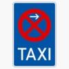 Vorschriftzeichen 229-11 Taxenstand Ende,  Aufstellung rechts