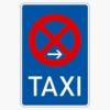 Vorschriftzeichen 229-20 Taxenstand Mitte,  Aufstellung rechts