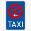 Vorschriftzeichen 229-21 Taxenstand Ende,  Aufstellung links