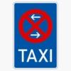 Vorschriftzeichen 229-30 Taxenstand Anfang,  Aufstellung links