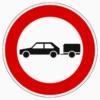 257-56 Verbot für Personenkraftwagen mit Anhänger