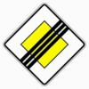 Verkehrszeichen 307 Ende der Vorfahrtstraße