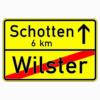 Verkehrszeichen 311 Ortstafel Rückseite (einseitig)