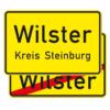 Verkehrszeichen 310-40 Ortstafel Vorder- und Rückseite, doppelseitig (Rückseite mit Verkehrszeichen 311)