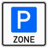 Verkehrszeichen 314.1 Beginn einer Parkraumbewirtschaftungszone