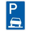 Parken auf Gehwegen halb in Fahrtr. links