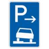 Parken auf Gehwegen halb in Fahrtr. links Anfang