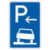 Parken auf Gehwegen halb in Fahrtr. links Ende