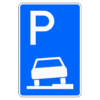 Parken auf Gehwegen halb in Fahrtr. rechts Anfang