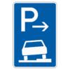 Parken auf Gehwegen halb in Fahrtr. rechts Mitte