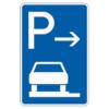 Parken auf Gehwegen ganz in Fahrtr. links Mitte
