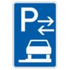 Parken auf Gehwegen ganz in Fahrtr. rechts