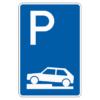 Parken auf Gehwegen ganz in Fahrtr. rechts Ende